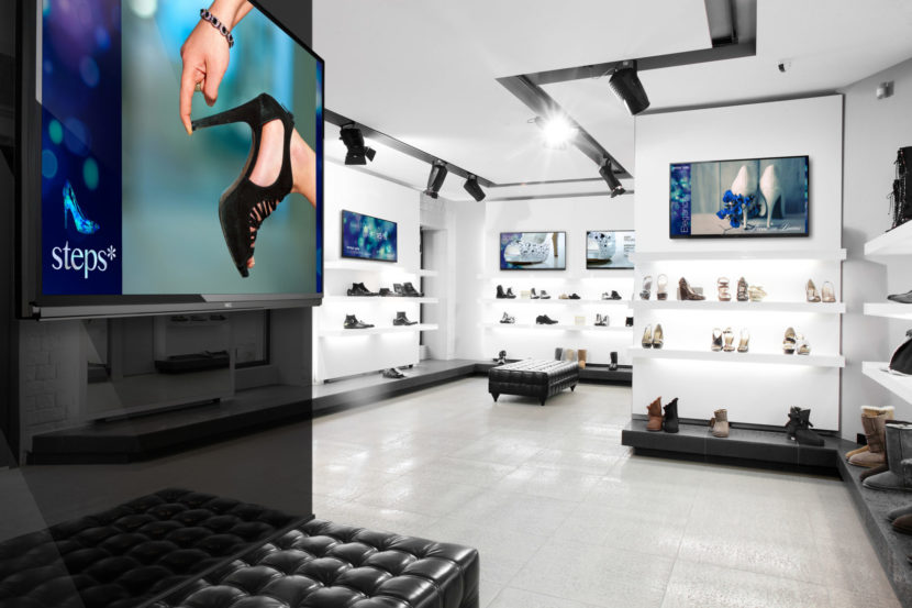 affichage dynamique boutique écran moniteur