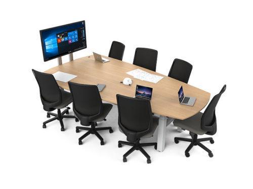 salle réunion huddle room table espace collaboratif