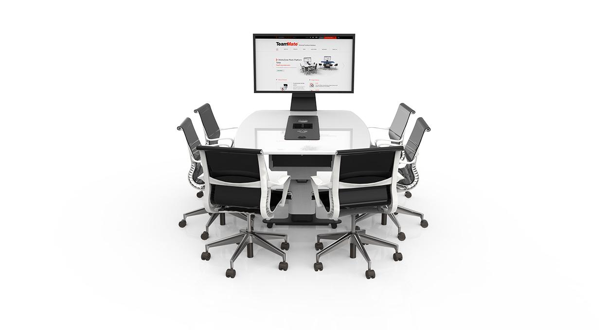 WorksZone-Ellipse salle réunion huddle room table espace collaboratif