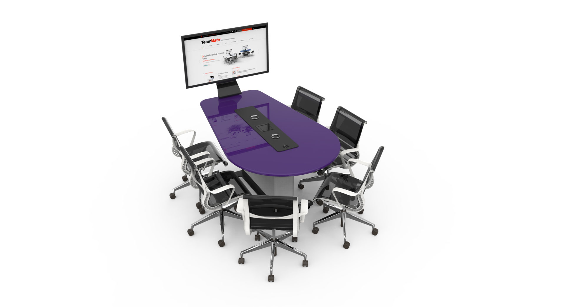 WorksZone-Oval salle réunion huddle room table espace collaboratif