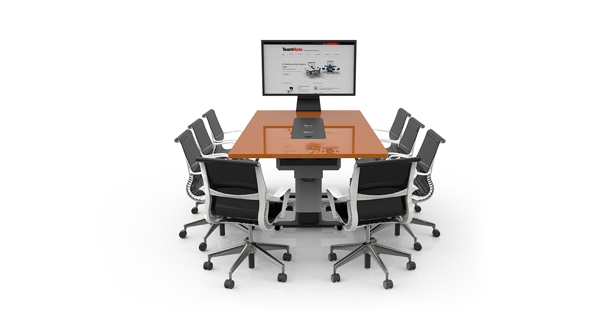 WorksZone-Rectangle-Collaboration-Table salle réunion huddle room table espace collaboratif