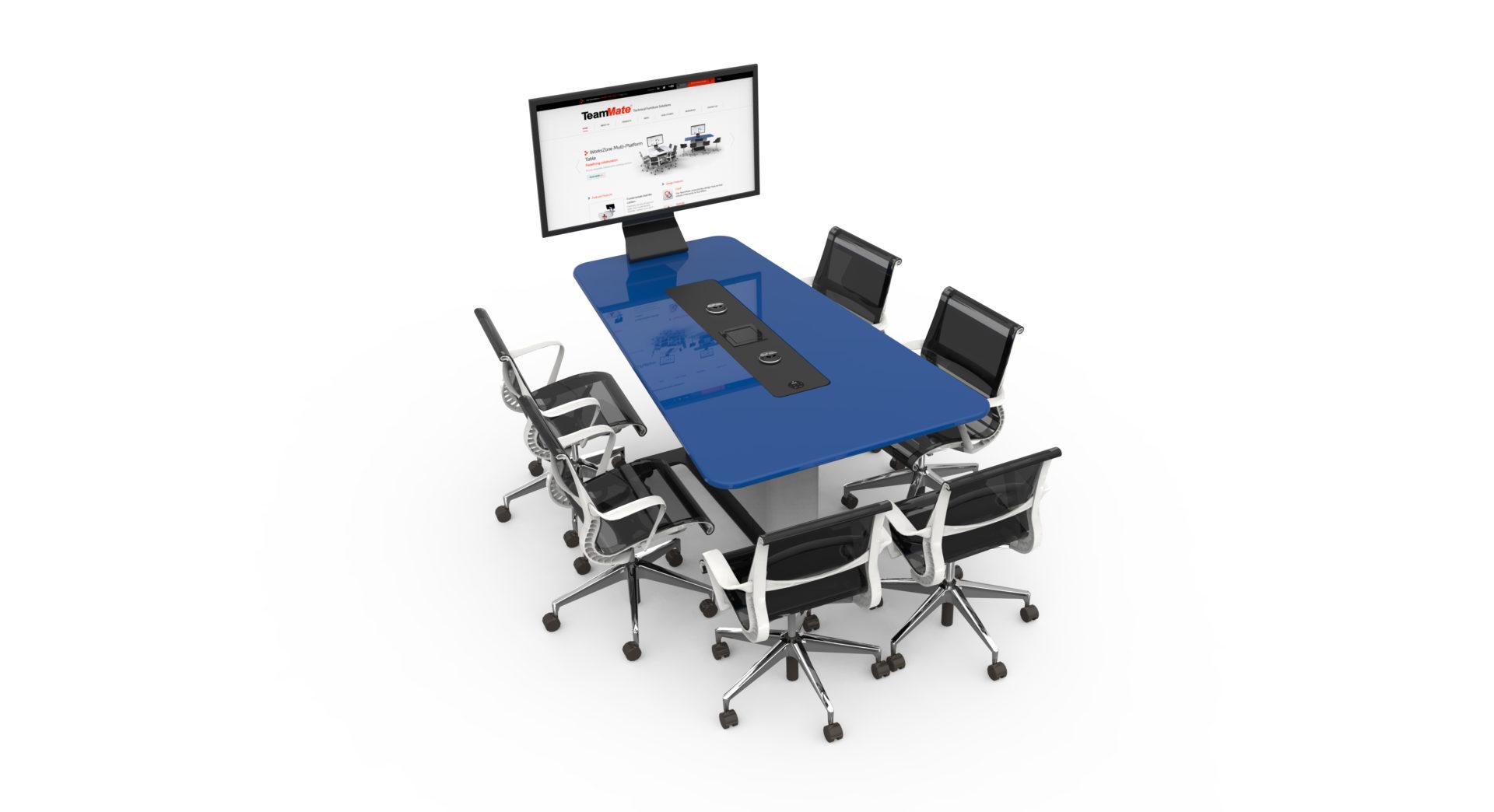 WorksZone-Trapeze salle réunion huddle room table espace collaboratif