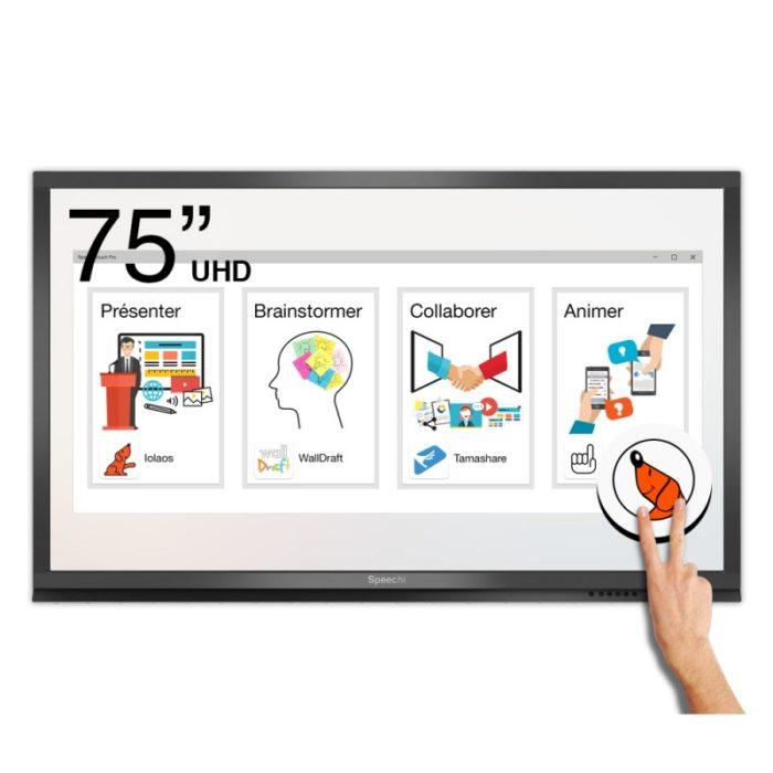 écran moniteur interactif tactile speechi