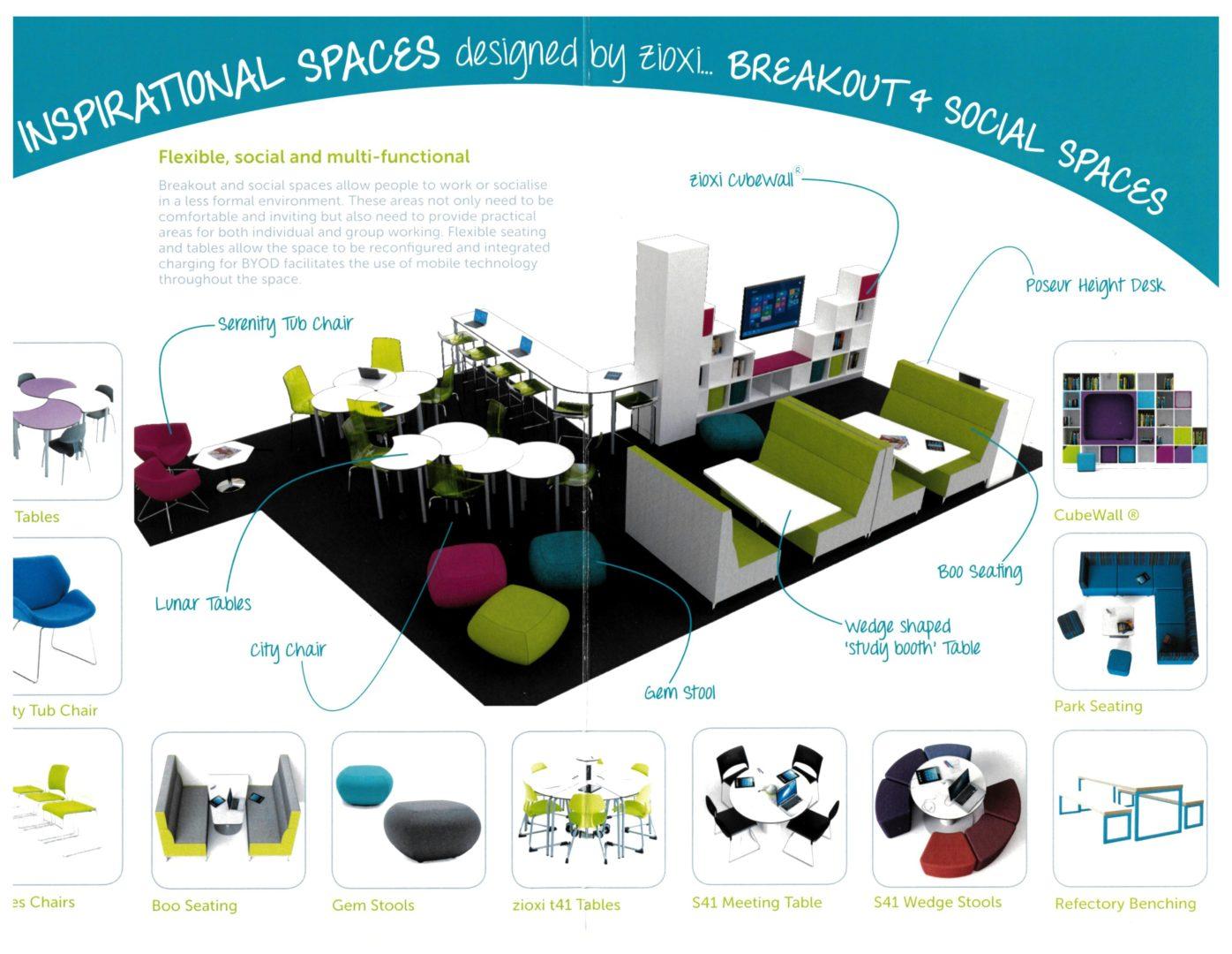 Espace détente breakout social spaces