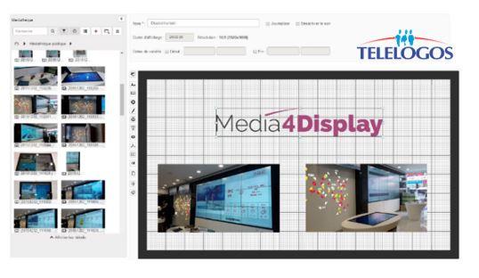 Media4Display telelogos affichage dynamique