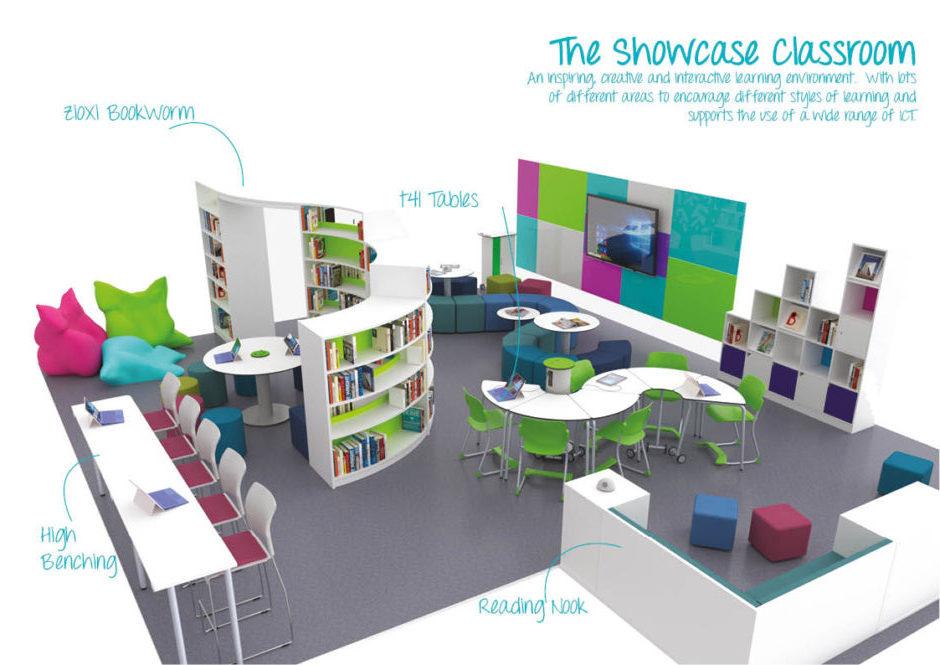 Salle d'étude showcase classroom