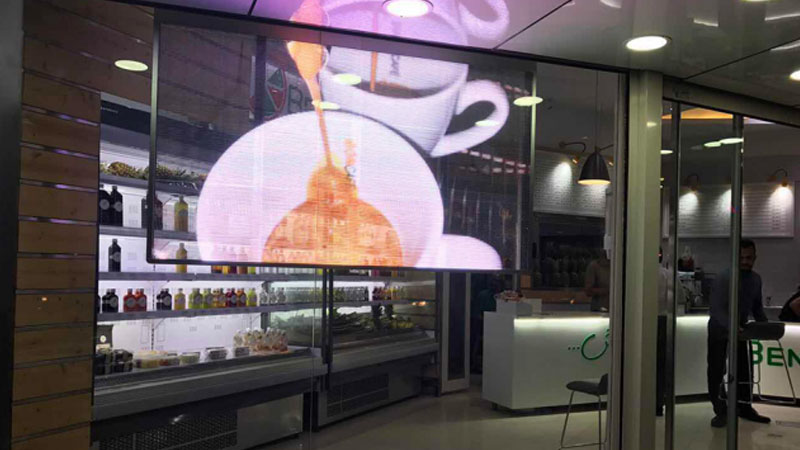 Affichage intelligent transparent LED vitrine