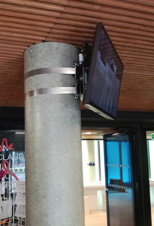 Cerclage poteau -ERARD support écran moniteur