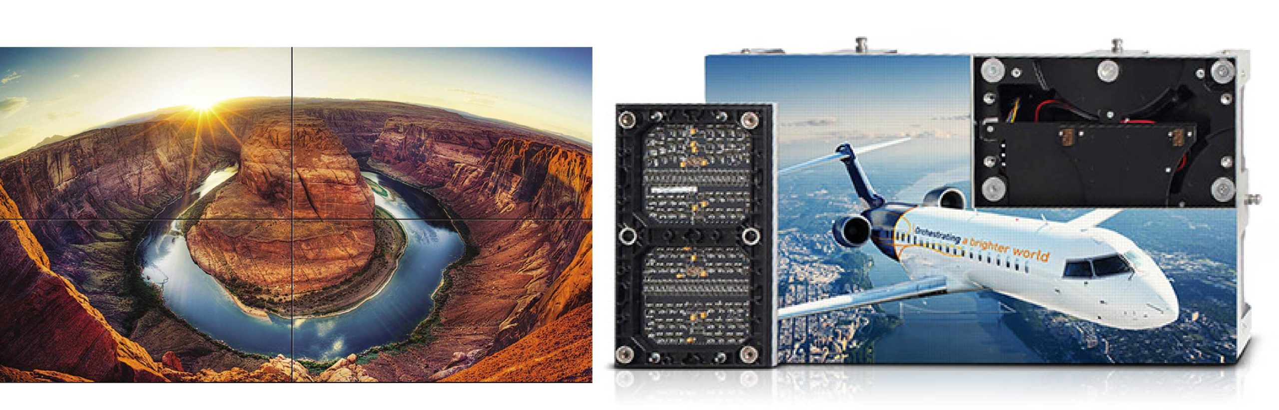 Mur d'images panneaux LED affichage dynamique