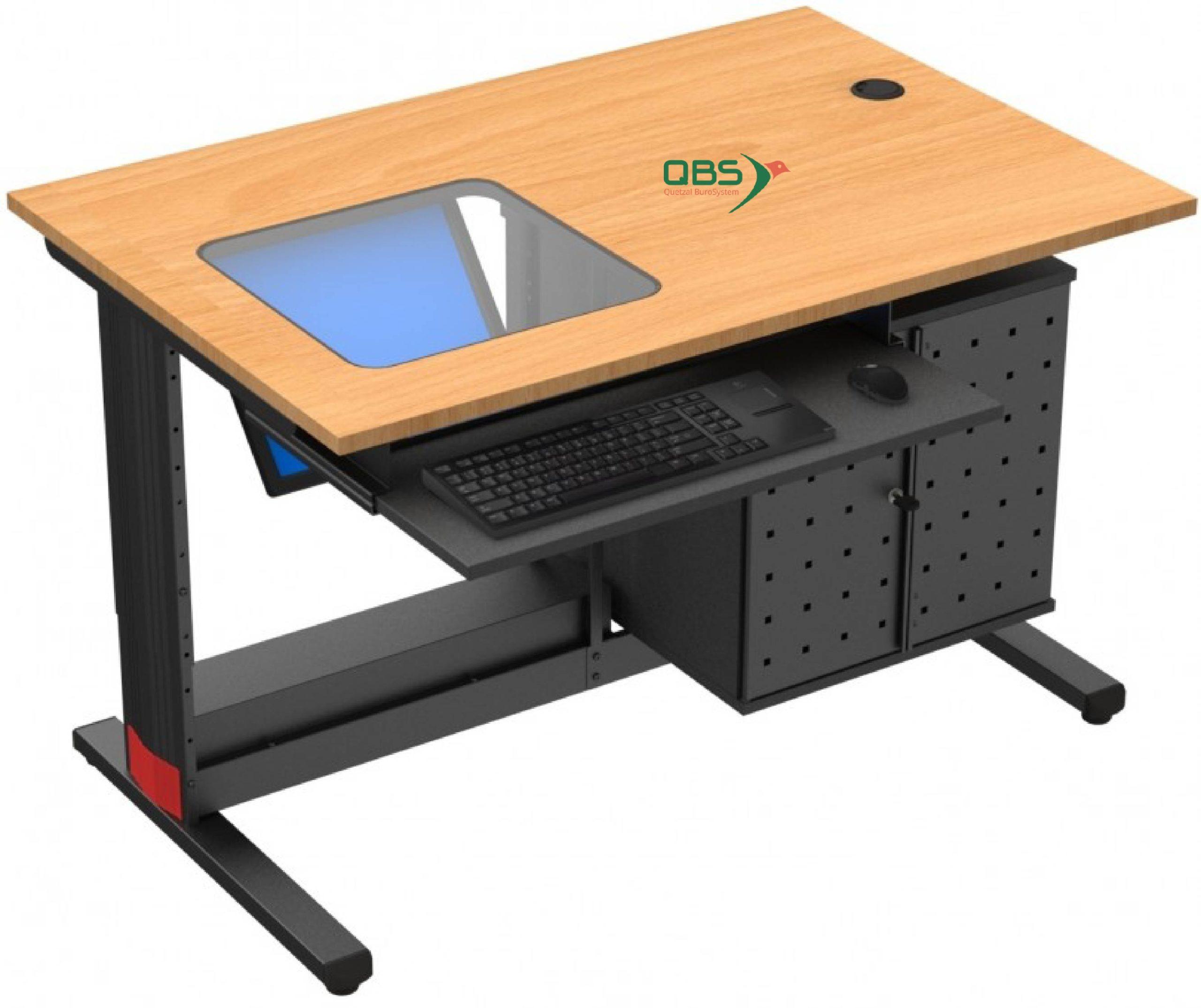 Écran encastré mobilier spécialisé informatique formation QBS