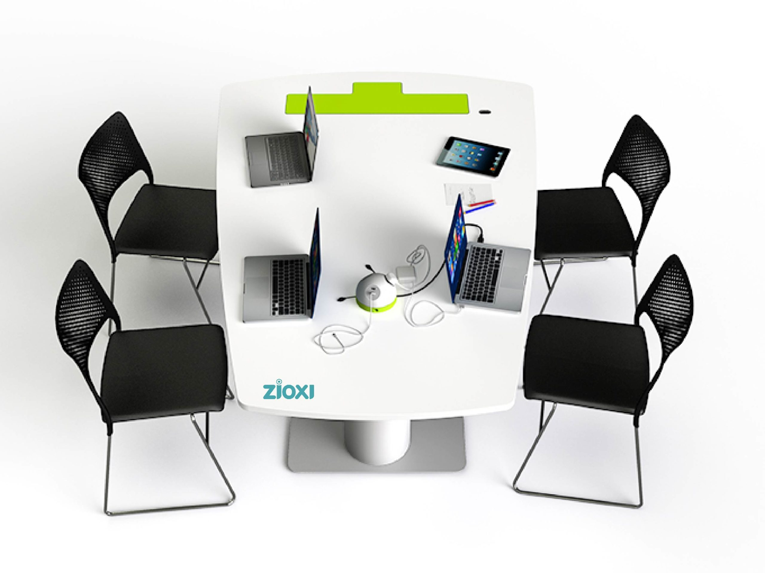 Table collaborative Zioxy salle réunion huddle room collaboratif work space