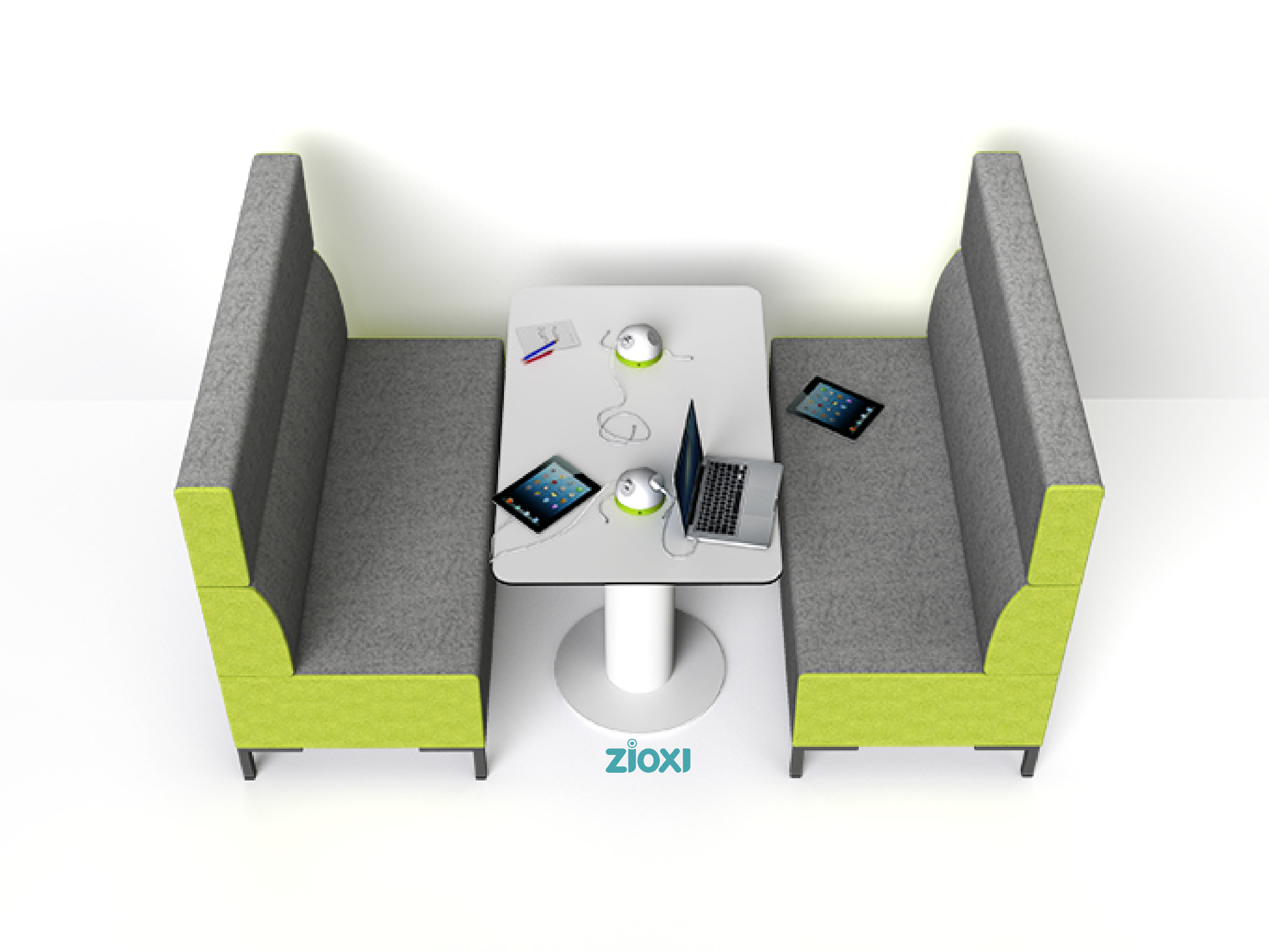 Espace travail coworking huddle room collaboratif work space Zioxi